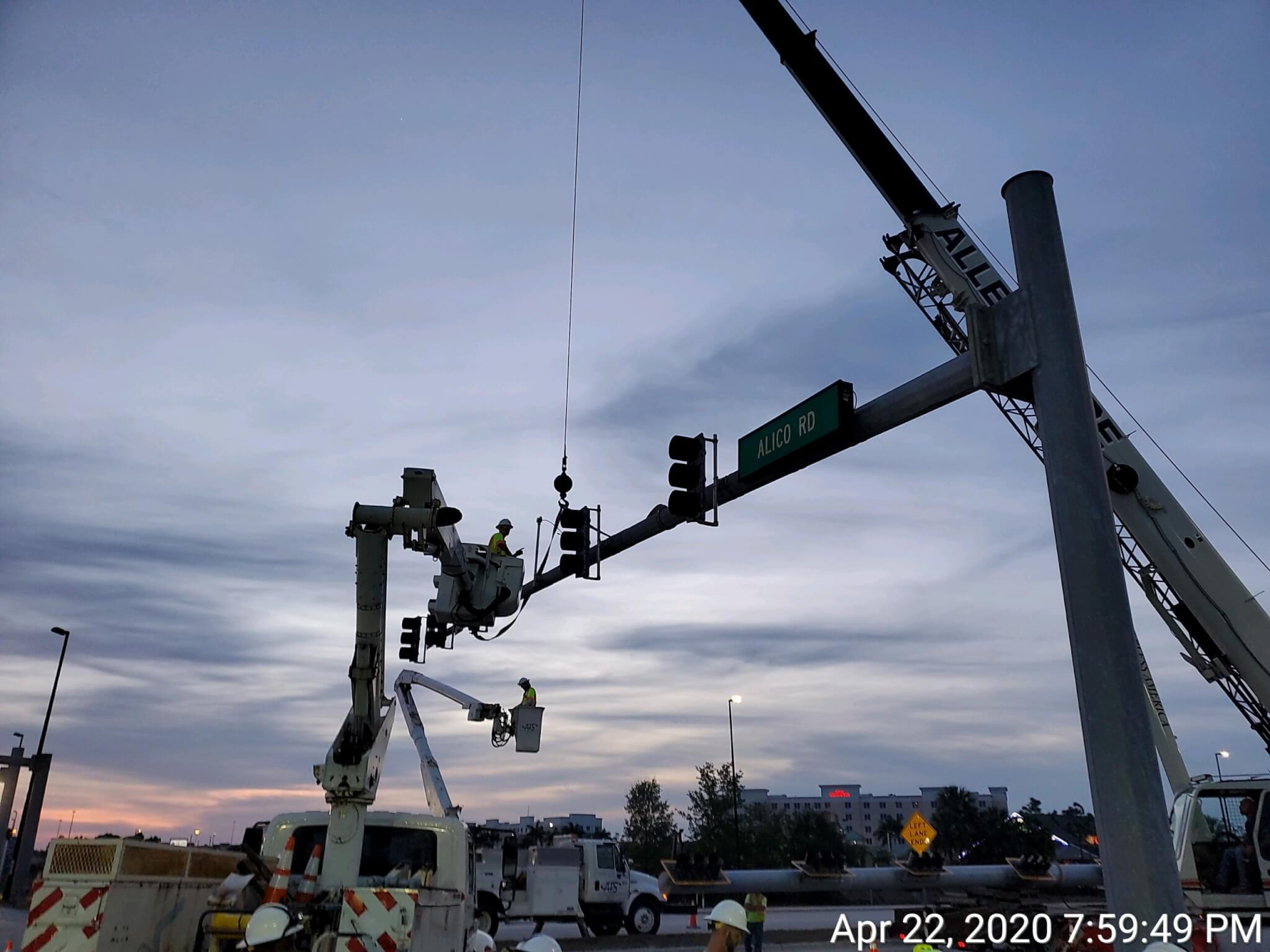 Alico Road at Ben Hill Griffin Parkway Mast Arm Design
